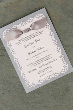 Simple Wedding Invitation Print The Top On White Or Velum And