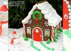 Gingerbread House Cake! Member Video Library-MyCakeSchool.com!