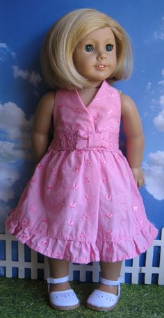 A Doll for all Seasons: How to recycle an infant top into a doll's Spring Dress