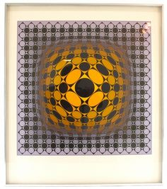 The ~ Artworks of Victor Vasarely Victor Vasarely, Moving To Paris, Computer Art, Mid Century Modern Art, Illusion Art, French Artists, Op Art, Optical Illusions, Art World