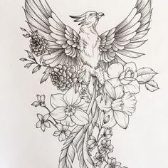 Phoenix sketch #FeatherTattooIdeas