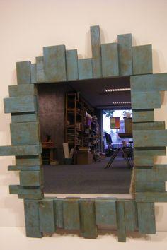 spiegel, steigerhout en pallethout