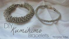 DIY Kumihimo Bracelets - easy technique to make cool beaded bracelets or grown up friendship bracelets!