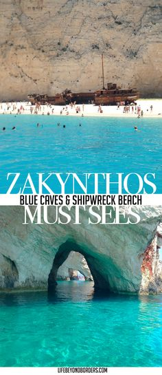 Zakynthos, Greece; Blue caves and Shipwreck Beach