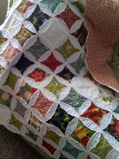 Shabby Cathedral Window Quilt I made at SBE