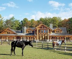 fencing for horses, house for people