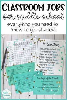 How To Use Classroom Jobs in Middle School » Math With Meaning