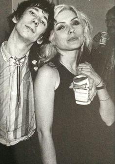 Stiv Bators & Debbie Harry.