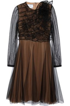 Ruffled tulle dress by Valentino