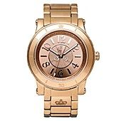 Juicy Couture Watch, Women's HRH Rose Gold-Tone Stainless Steel Bracelet 1900828. I want this one too...