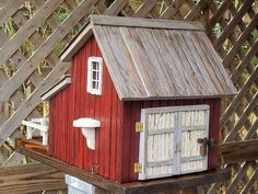 Red Barn with storage by Mill Creek Crafts, via Flickr