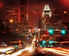 Getting this shot of downtown Austin was a bit more exciting than I anticipated! South Congress St. Austin, TX. Stuck in Customs