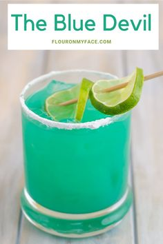 Blue Devil Cocktail Cocktail Party Food, Cocktail Drinks, Cocktail Recipes, Drink Recipes, Cocktail Movie, Cocktail Sauce, Cocktail Attire, Cocktail Shaker, Coffee Recipes