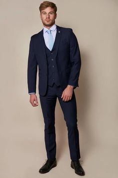 Click here to discover our collection of Men's 3 Piece Suits. Browse our vintage inspired designs in a variety of prints, colours & materials. Shop today! Black And Grey Suit, Classic Blue Suit, Classic Blues, Black Suits, Mens 3 Piece Suits, Three Piece Suit, Slim Fit Suits, Work Suits, Double Breasted Waistcoat