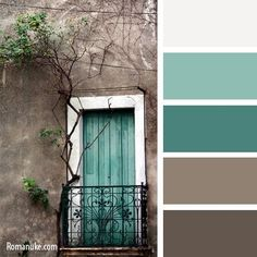 Teal brown color scheme