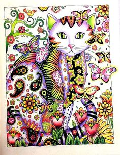 Inspirational Coloring Pages by Sheyla Braz #inspiração #coloringbooks #livrosdecolorir #jardimsecreto #secretgarden #cats #gatomania #gatos #florestaencantada #enchantedforest #reinoanimal #animalkingdom #adultcoloring #milliemarotta
