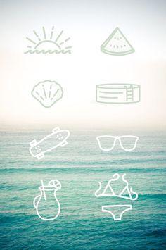 Iconos descargables basados en el verano >> Free summer icons, designed by tim praetzel