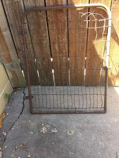Vintage Antique WIRE GATE GARDEN YARD ART Cottage Style Fence