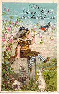 Acme Soap ~ Antique Advertising Card. from:  blueskiesbotanicals.blogspot.com