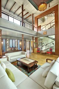 Ajay Patel Residence | Dipen Gada & Associates Hall Interior Design, Interior Design Living Room, Living Room Designs, Interior Decorating, Indian Home Design, Indian Home Interior, Indian Home Decor, Future House, House Architecture Styles