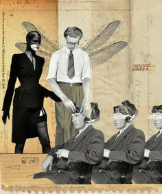 Mixed media collage art by Franz Falckenhaus Art Du Collage, Collage Illustration, Collage Design, Mixed Media Collage, Illustrations, Collage Artists, Collages, Saatchi Online, Photomontage