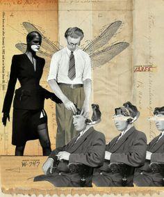 "Franz Falckenhaus Digital, 2012, Assemblage / Collage ""Adjustment Bureau"""