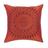 "Laura Hill""Ethnic Wheel Pillow in Rust"