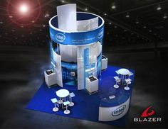 Intel Booth Design By Blazer Exhibits & Events #tradeshowbooth #tradeshow #design