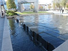 Fountain in General Gordon Square in Woolwich, London: