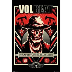 "#Poster verticale ""Outlaw Gentlemen & Shady Ladies"" dei Volbeat. Dimensioni: 91,5 x 61 cm."