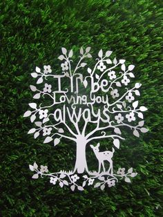 beautiful woodland papercut with a heart-felt message.     paper cut by The Paper Cut Boutique: http://www.etsy.com/shop/thepapercutboutique    As seen in the Discover Paper 2012 Valentine's Guide: http://discoverpaper.com/2012-valentines-guide/p76andp77.php