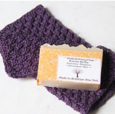 Beautiful handmade washcloth paired with handmade soap. This beautiful gift  can be for a friend or for a new home