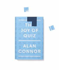The Joy of Quiz by Alan Connor | Original Book Cover Sleeve Quiz Design  | Award-winning Trade Covers | D&AD