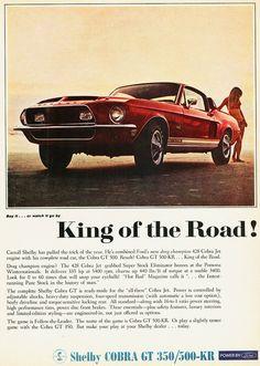 1968 Shelby Cobra GT 350/500-KR Ad