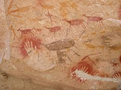 Hunting scene Cueva de las Manos, Argentina 11,000 BCE Earliest cave art in the Americas