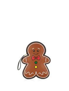 Brown Gingerbread Man Clutch    New Look