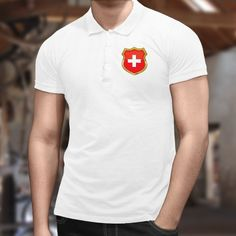 Polo - In Switzerland We Trust Men's Polo, Polo Shirt, Switzerland, Polo Ralph Lauren, Shirts, Mens Tops, Fashion, Men Styles, Crests