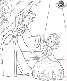 coloriage princesse sofia et cedric