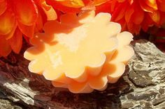 Orange Candle Tarts or Floating Candles by SaponeSoaps on Etsy, $4.00