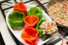 Festive Red & Green Stuffed Peppers with Jalapeño | Swa-Rai