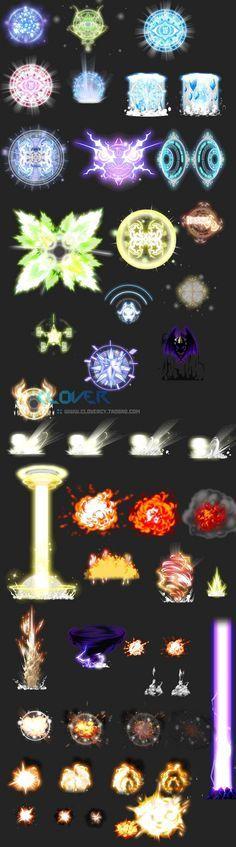游戏美术资源 技能光效连帧素材 超值多类...