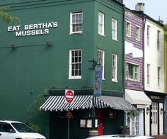 Bertha's, Fells Point, Baltimore. My wife and I have eaten mussels here at Bertha's in Fells Point, Baltimore, Maryland