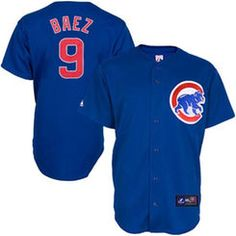 Javier Baez Chicago Cubs Majestic Youth Replica Player Jersey – Royal Blue