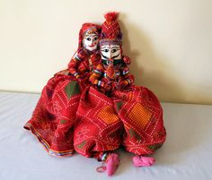 Indian dolls String puppetsRed  Colorful by Indiangiftsncrafts, $29.99