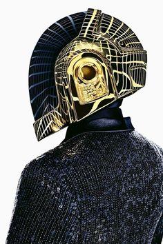 Black Mask Golden Helmet
