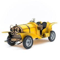 Miniatura Carro Antigo Conversível - Amarelo - Machine Cult - Kustom Shop   A loja das camisetas de carro e moto