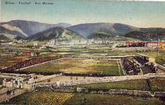 Postal de 1915 del Estadio San Mamés, casa de el Athletic Bilbao.