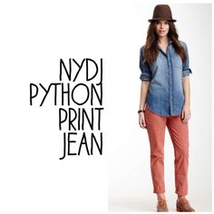 NYDJ Python Print Jean NYDJ Python Jean NWT Venetian rose 🚫PayPal, 🚫Trades 😊 NYDJ Jeans