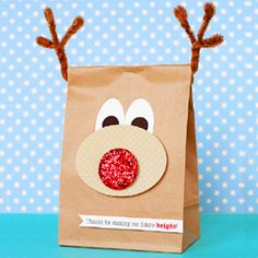 Reindeer Bags.  Great for Teacher gifts too