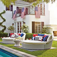 If only I could afford this.... White Outdoor Comfy Daybed for laying by the pool!